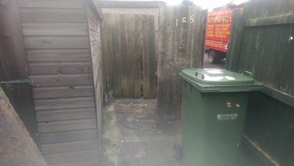 Back yard cleared in Norton