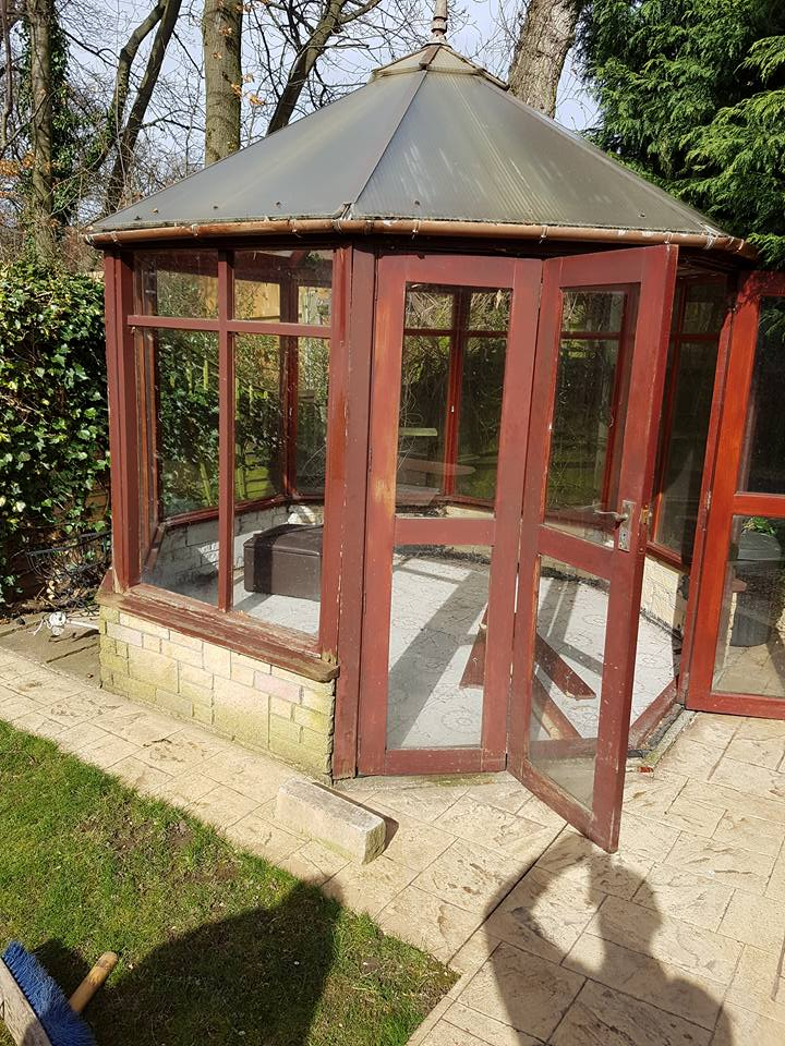 Summerhouse dimantled and removed from a garden in Eston
